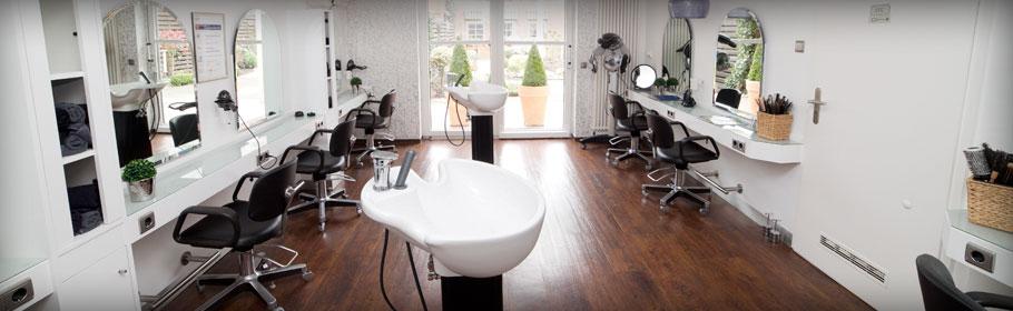 Friseur-Brand-Innenansicht